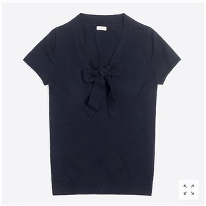 J.Crew bow front sweater size M